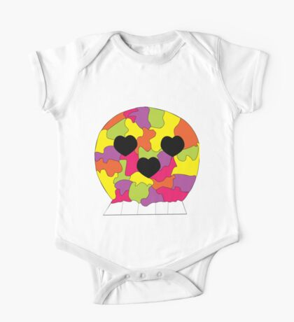 Rainbow Puzzle Pieces Skull Hearts Kids Clothes