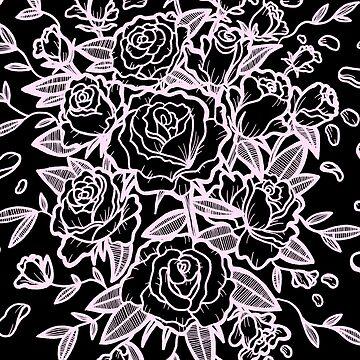 Rosen - schwarz & pink von nevhada