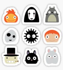 ghibli character icon sticker pack Sticker