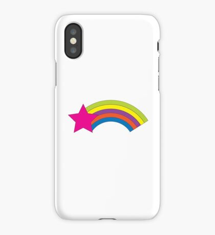 Pink Star and Colorful Rainbow iPhone Case/Skin
