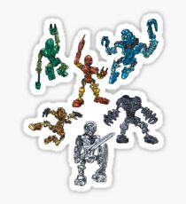 The Six Toa Heroes Sticker