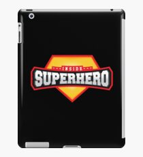 Superhero inside emblem design iPad Case/Skin