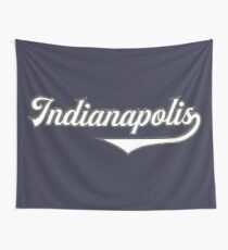 Indianapolis - Indiana - Vintage Sports Typography Wall Tapestry