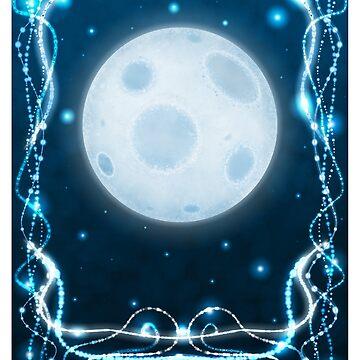 """""""The Moon"""" Tarot Card by merrypranxter"""
