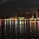 Inner Harbour Night Lights by Trish Meyer