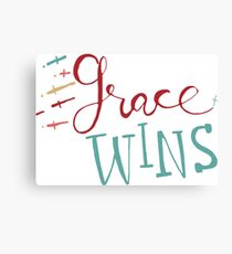 Grace Wins in color Canvas Print