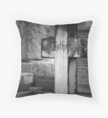 Mother's Grave Throw Pillow