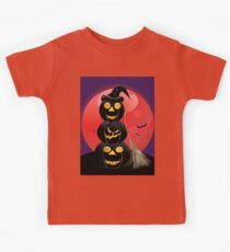 Halloween party background with pumpkins 5 Kids Clothes