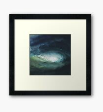 A Stormy Wave Framed Print