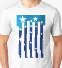 Blue bars and stars. T-Shirt