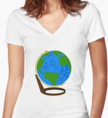 What is the Ocean but a Multitude of Drops Women's Fitted V-Neck T-Shirt