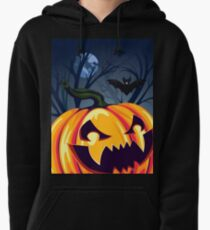 Halloween Pumpkin in the Forest 2 Pullover Hoodie