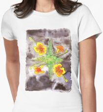 Watercolor botanical illustration Women's Fitted T-Shirt