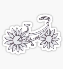 Flower Beach Cruiser Bike Sticker