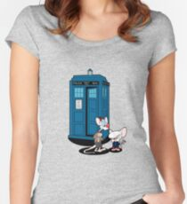 Gee Doctor What Are We Going To Do Tonight? Women's Fitted Scoop T-Shirt
