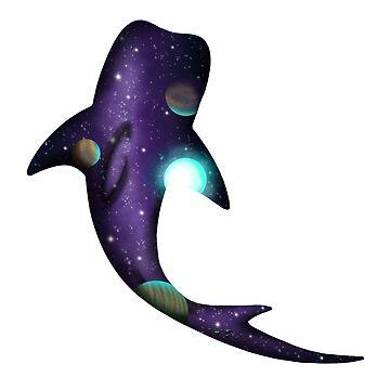 Galaxy Whale Shark by EmmyGoat
