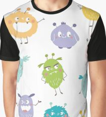Halloween Cute Monsters Graphic T-Shirt