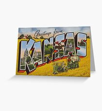Greetings from Kansas vintage postcard Greeting Card