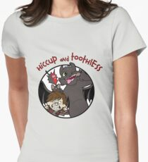 Hiccup and Toothless Womens Fitted T-Shirt
