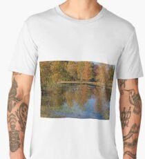 Colorful Autumn Pond Reflections Men's Premium T-Shirt