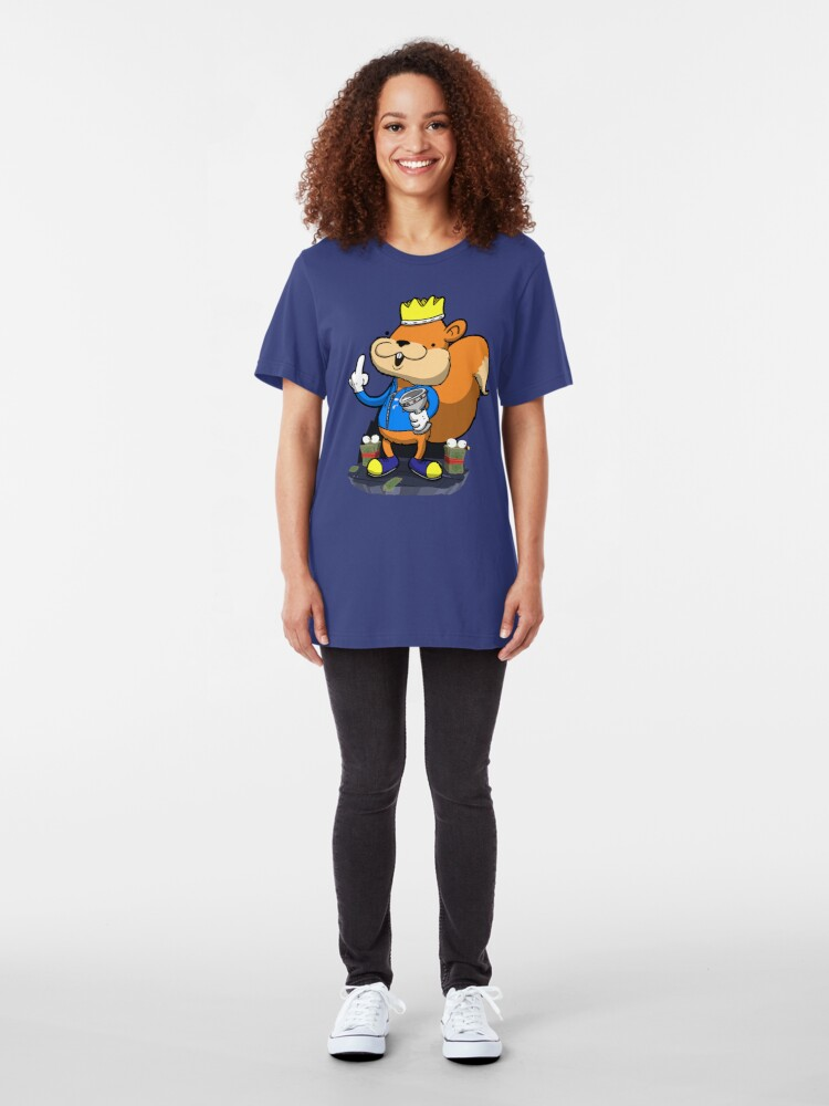 Alternate view of King of all the land! Slim Fit T-Shirt