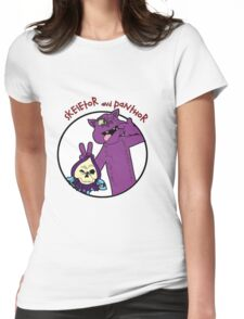 Skeletor and Panthor Womens Fitted T-Shirt