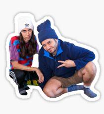 Ethan and Hila Sticker