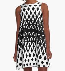 Wellen in Partikel A-Linien Kleid
