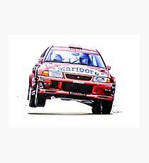 Tommi Makkinen's Mitsubishi Lancer Evolution 6 (Prints and Mugs) Photographic Print