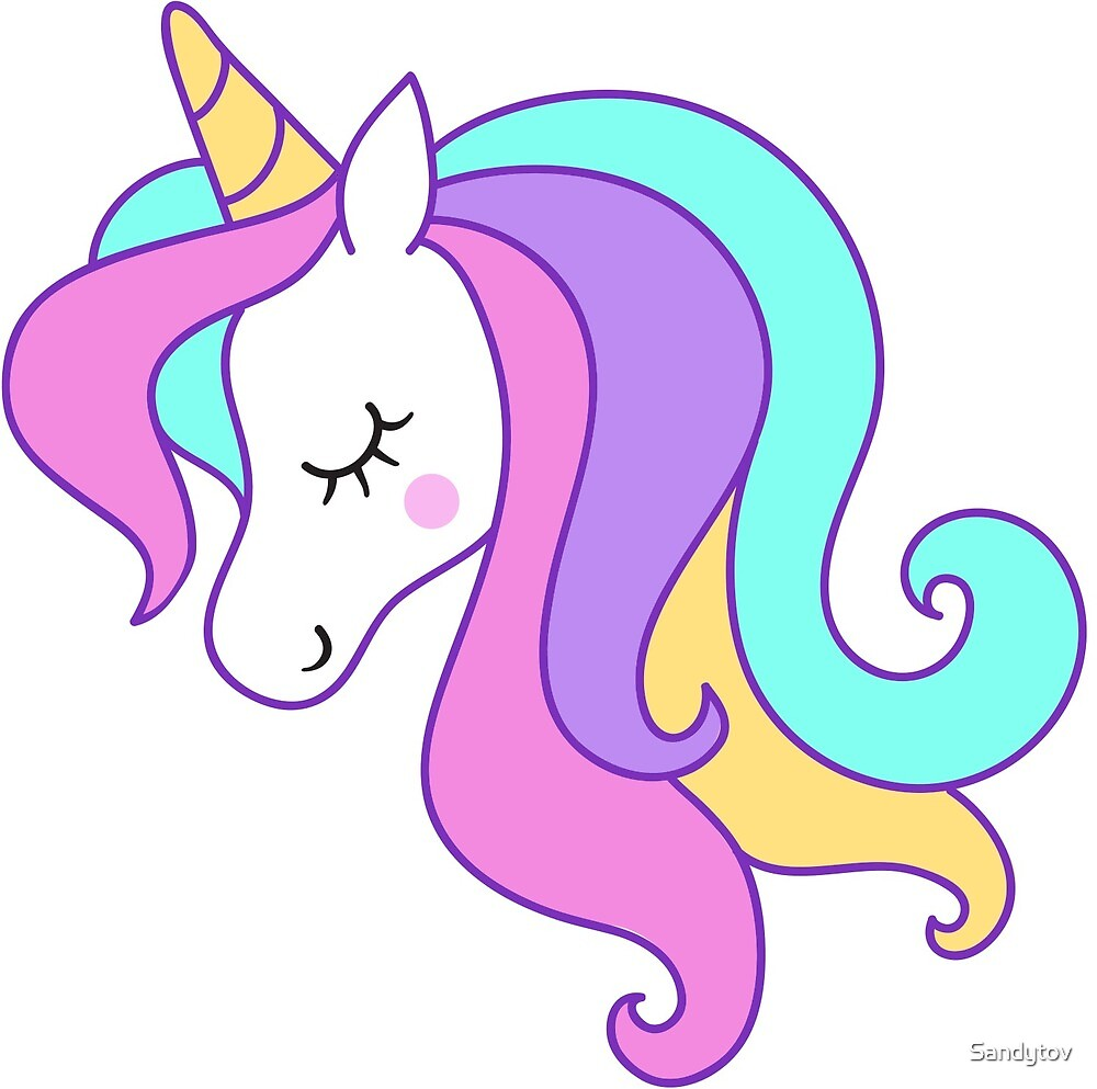 """Unicorn,Unicorn Clipart, Unicorn Head, Unicorn Face,"" by ..."