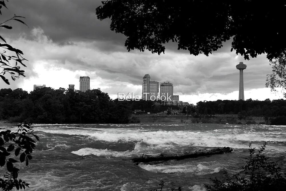Clouds over Niagara Falls by Béla Török