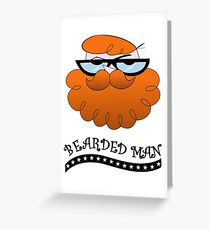 Bearded man - El laboratorio de Dexter Greeting Card