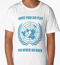 Flat Earth Designs - Once You Go Flat You Never Go Back Long T-Shirt