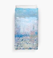 Abstract Geometric Nature Landscape with Triangles Duvet Cover