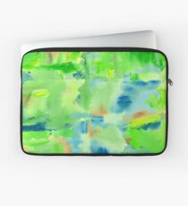 In the Forest in Spring Abstract Watercolor Collage Laptop Sleeve
