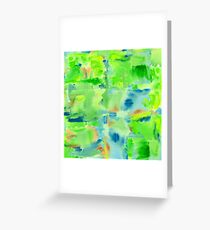 In the Forest in Spring Abstract Watercolor Collage Greeting Card