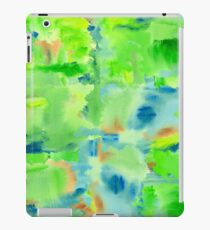 In the Forest in Spring Abstract Watercolor Collage iPad Case/Skin