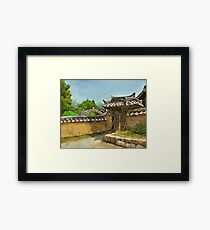 Korean Gate Framed Print