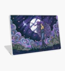 Royal Purple Wing Angel and Cats Laptop Skin