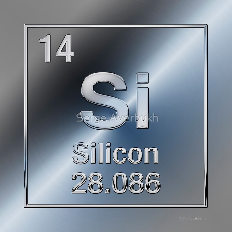Periodic Table Of Elements Silicon Si Art Prints By Serge