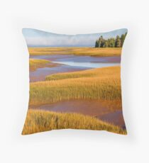 Tidal Marsh Throw Pillow