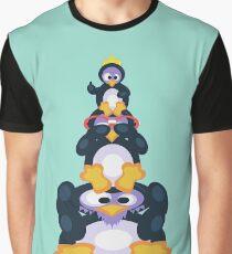 Happy Fingers Distro Hopper Penguin Graphic T-Shirt