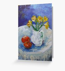 Daffodils and Oranges Greeting Card