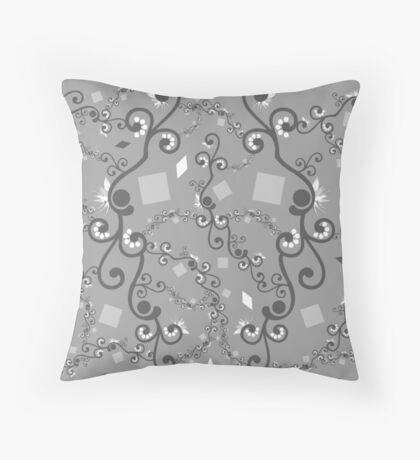 Grey White Connection Throw Pillow