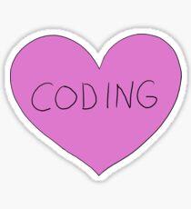 i heart coding Sticker