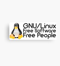 GNU/Linux - Free Software - Free People Canvas Print