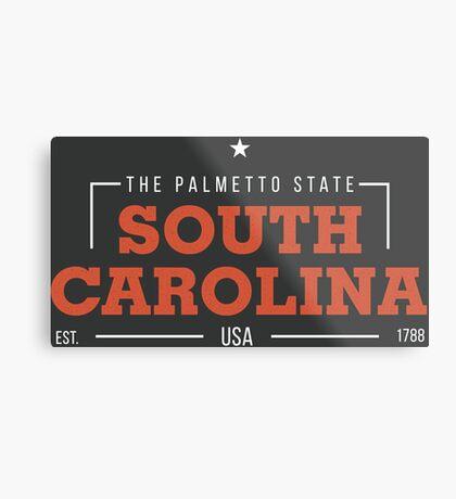 South Carolina American States Badge Design Metal Print
