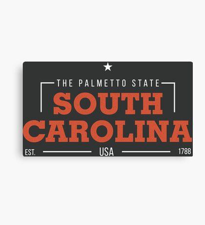 South Carolina American States Badge Design Canvas Print