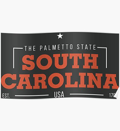 South Carolina American States Badge Design Poster