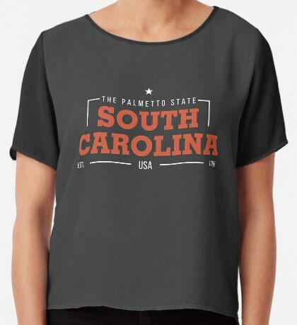 South Carolina American States Badge Design Chiffon Top
